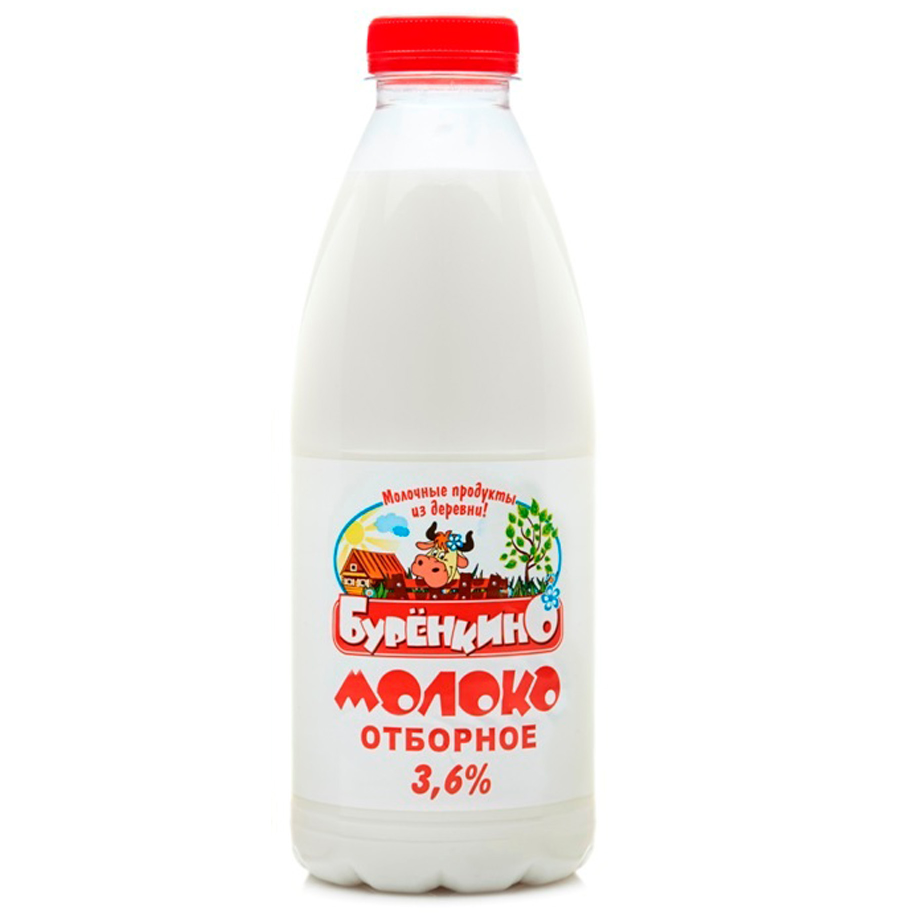Миниатюра записи Молоко отборное «Бурёнкино» —  3,6-6%