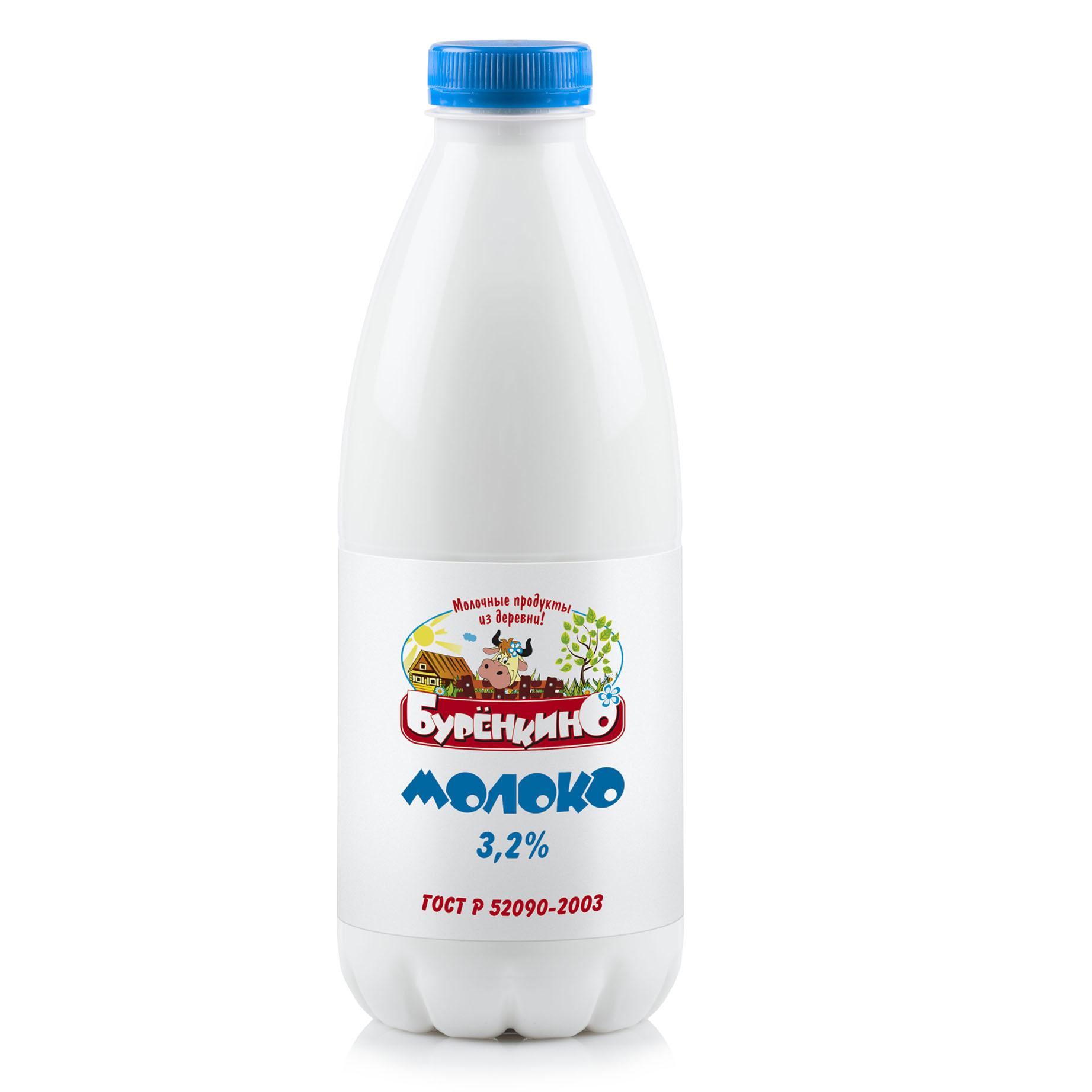 Миниатюра записи Молоко  «Бурёнкино» —  3,2%